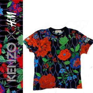 KENZO X H&M Floral print graphic print t-shirt